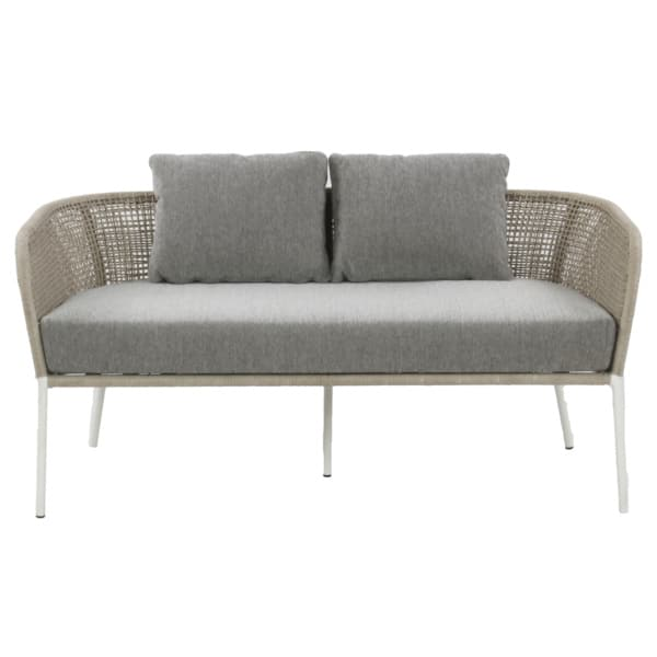 white and gray sofa