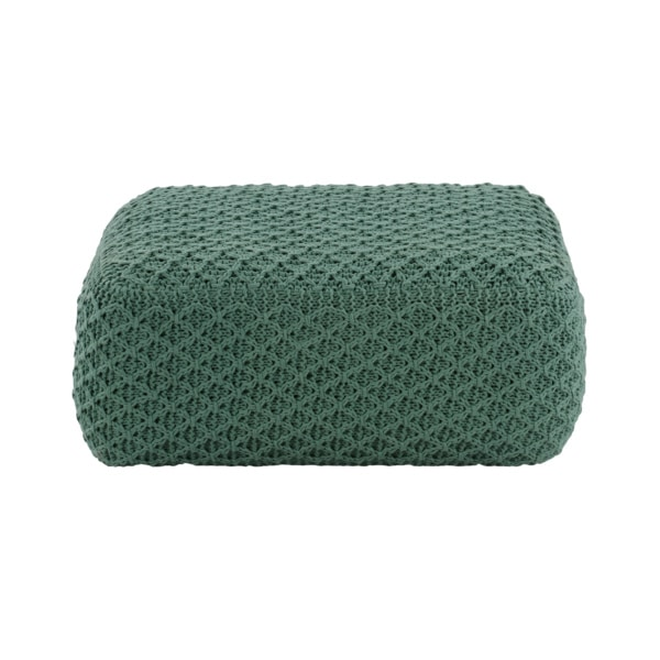 Studio Four Large Square Pouf Aqua