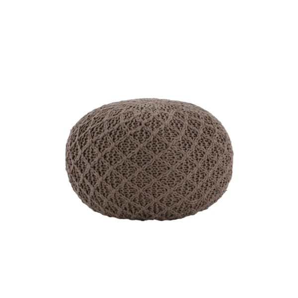 small natural pouf
