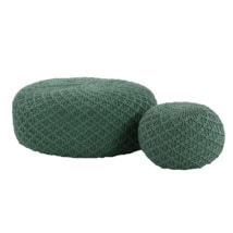 Studio Three Round Pouf Supporting