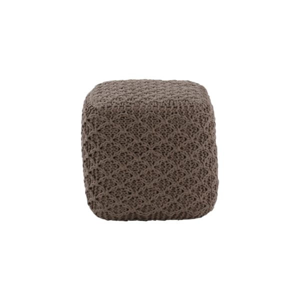small brown pouf