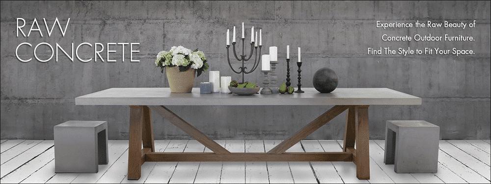 Concrete Furniture - rectangular table