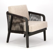 Brentwood Outdoor Relaxing Chair Ebony Espresso - Angle View