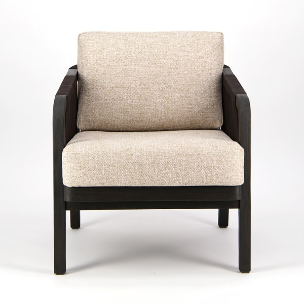 Brentwood Outdoor Relaxing Chair Ebony Espresso - Front View
