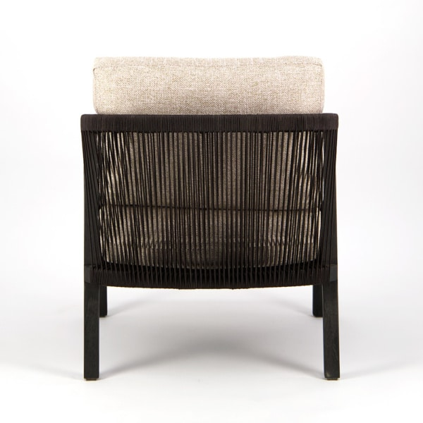 Brentwood Outdoor Relaxing Chair Ebony Espresso - Rear View