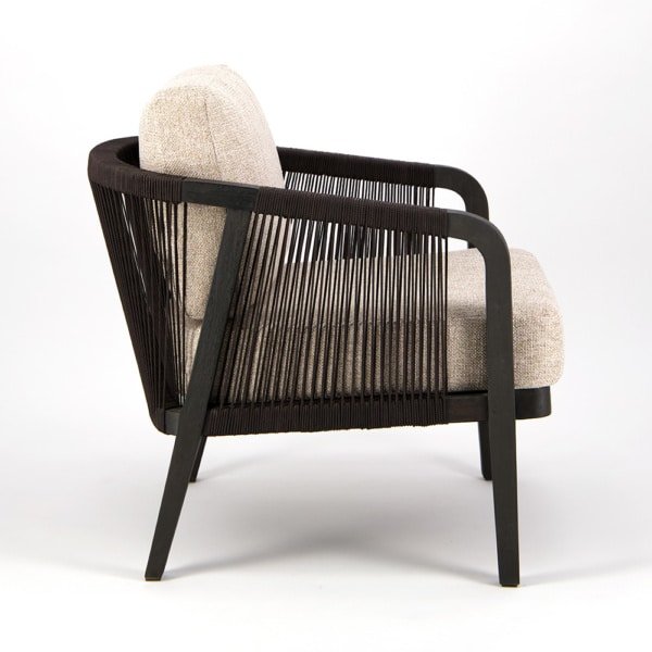 Brentwood Outdoor Relaxing Chair Ebony Espresso - Side View