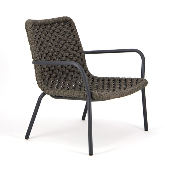 Dennis Outdoor Relaxing Chair Charcoal - Angle