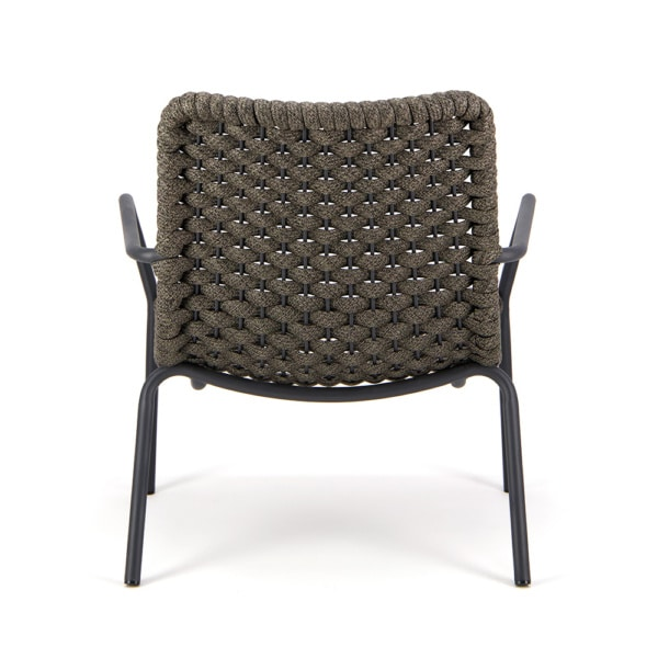 Dennis Outdoor Relaxing Chair Charcoal - Rear View