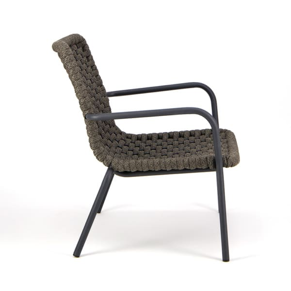 Dennis Outdoor Relaxing Chair Charcoal - Side View
