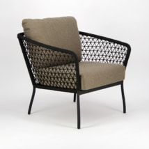 Lola Outdoor Wicker Relaxing Chair - Angle View