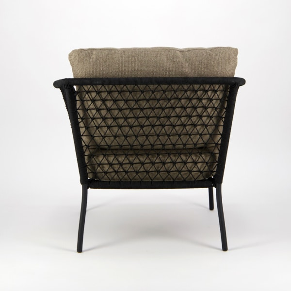 Lola Outdoor Wicker Relaxing Chair - Back View