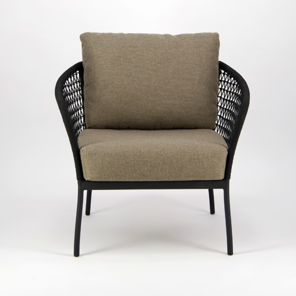 Lola Outdoor Wicker Relaxing Chair - Front View