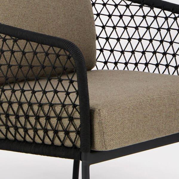 Lola Outdoor Wicker Relaxing Chair - Closeup View