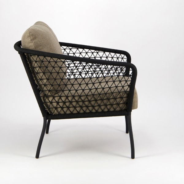 Lola Outdoor Wicker Relaxing Chair - Side View