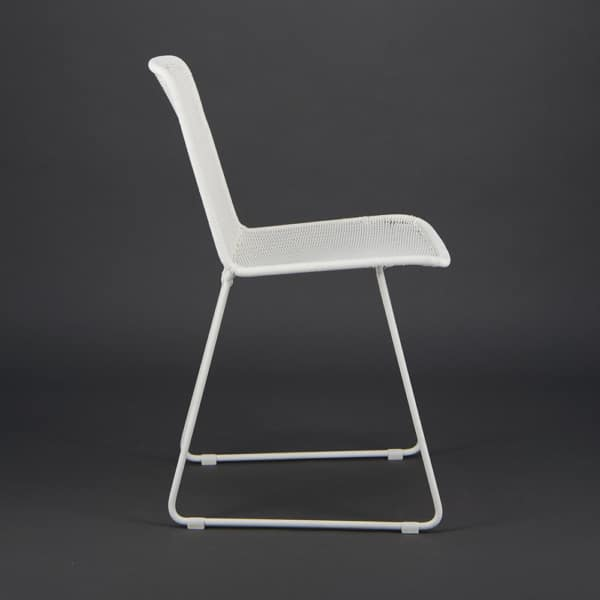 Olive Wicker Dining Side Chair Stonewhite - Side View