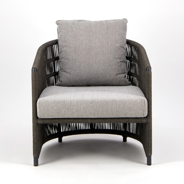 Tammy Outdoor Rope Relaxing Chair Charcoal - Front View