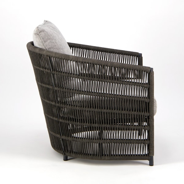 Tammy Outdoor Rope Relaxing Chair Charcoal - Side View
