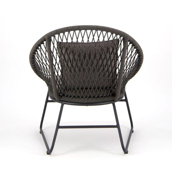 Zaha Outdoor Lounge Chair Cross Weave - Rear View