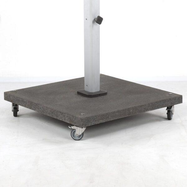 caribbean granite umbrella base 180 lb angle view