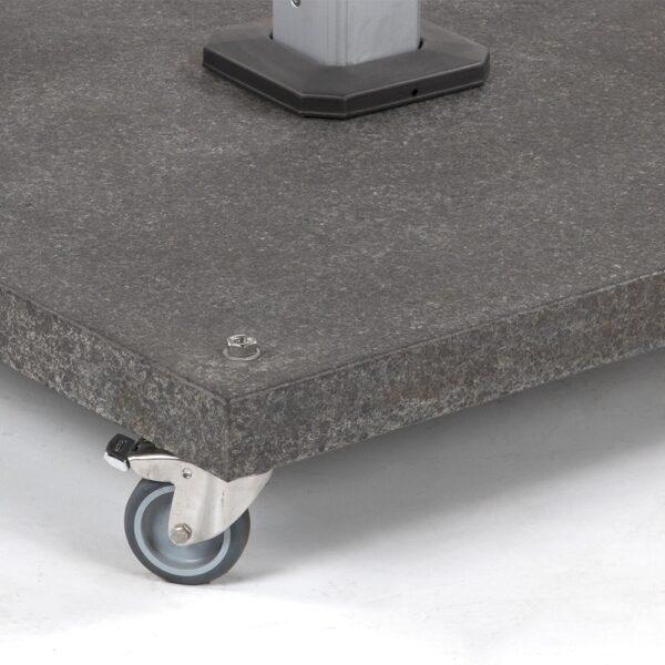 caribbean granite umbrella base close up view