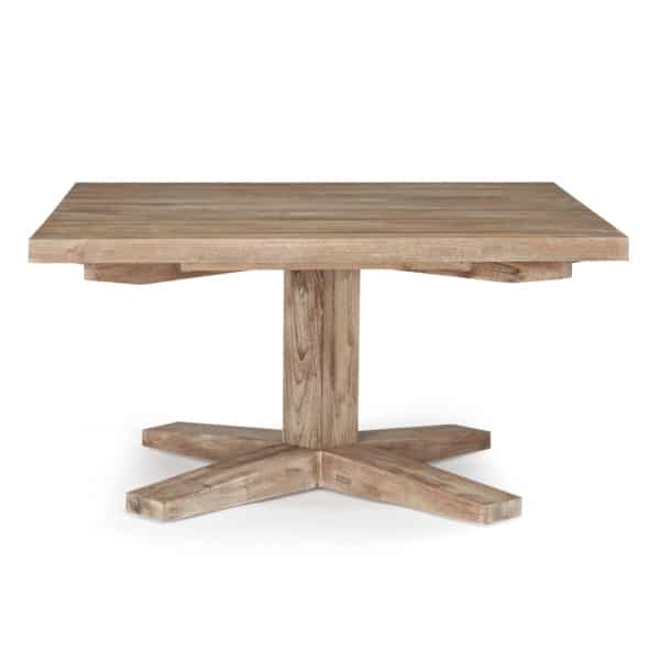 Napa Reclaimed Teak Bistro Table - Front View