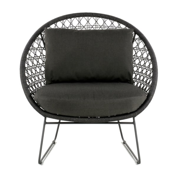 basket-outdoor-rope-relaxing-chair-graphite-front-view