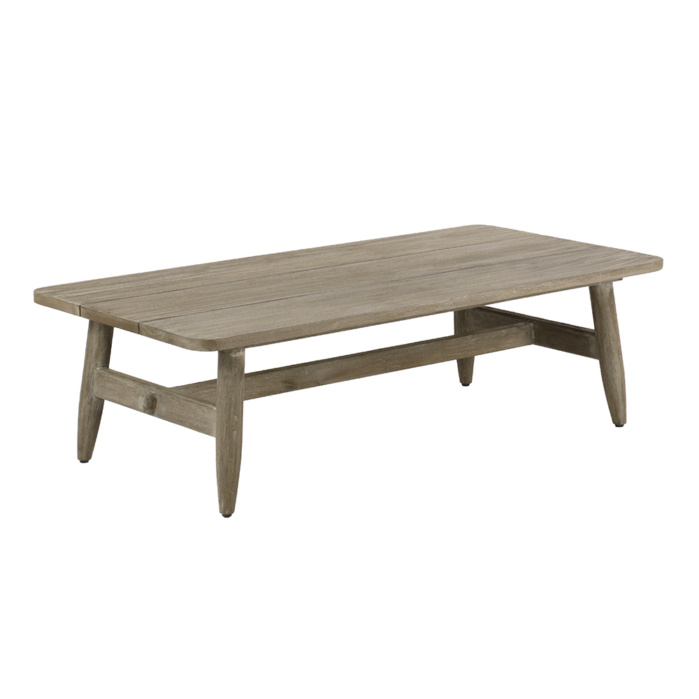 Sutherland Outdoor Teak Coffee Table Rectangle Angle