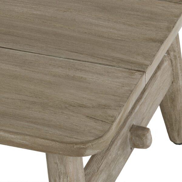 Sutherland Outdoor Teak Coffee Table Rectangle Closeup