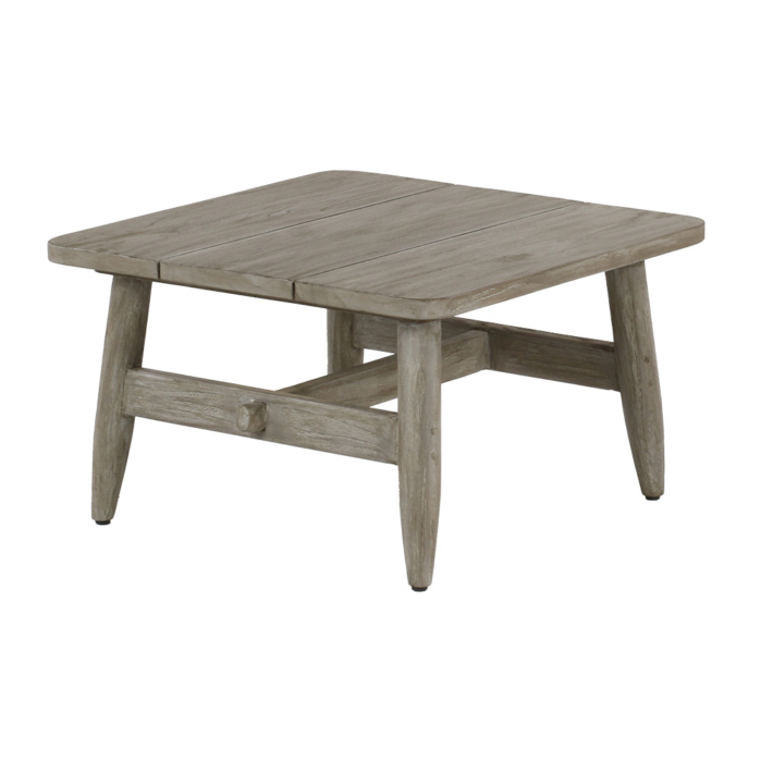 Sutherland Outdoor Teak Square Side Table Angle