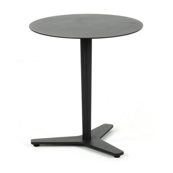 Point Round Aluminum Side Table