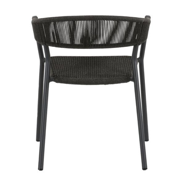 black outdoor dining chair - Spider