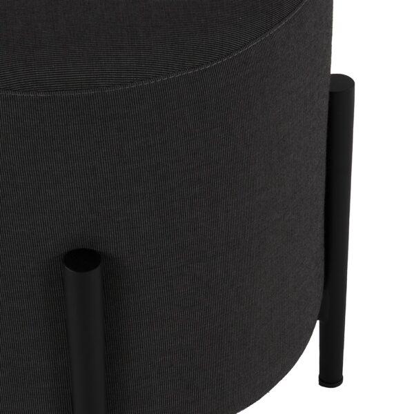 suzi outdoor stool in coal closeup view