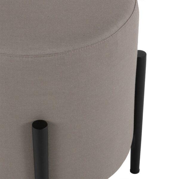 suzi outdoor stool in taupe closeup