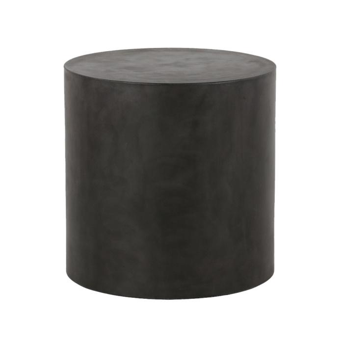 blok-concrete-round-side-table-large-black-front