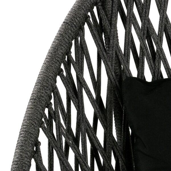 sunai-open-broad-weave-relaxing-swivel-chair-canvas-black-closeup-view