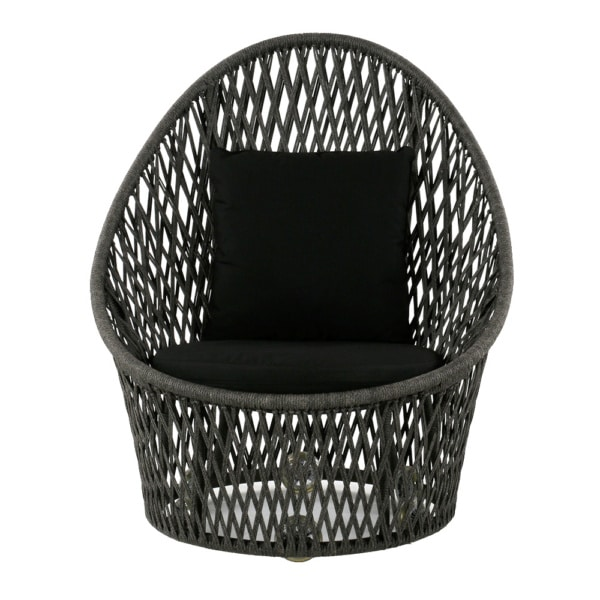 sunai-open-broad-weave-relaxing-swivel-chair-canvas-black-front-view