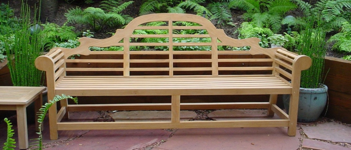 wooden lawn furniture bench