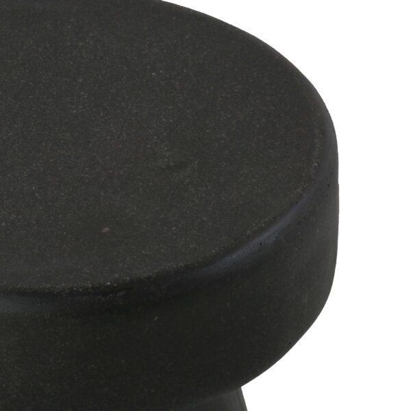 Ozzie Outdoor Fiberglass Stool Graphite Closeup View