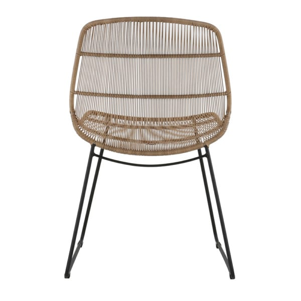 Oliver Outdoor Wicker Dining Side Chair (Natural) Back