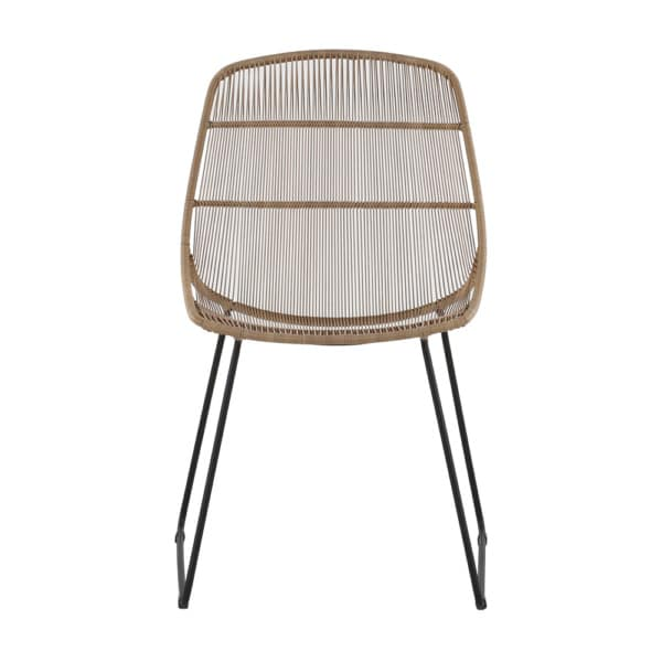 Oliver Outdoor Wicker Dining Side Chair (Natural) Front