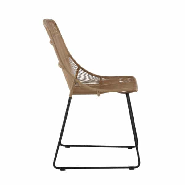 Oliver Outdoor Wicker Dining Side Chair (Natural) Side